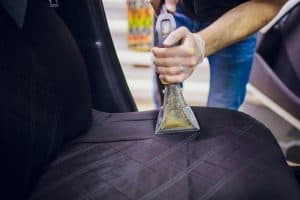 How to remove milk stains from car seats, carpets, or trunks.