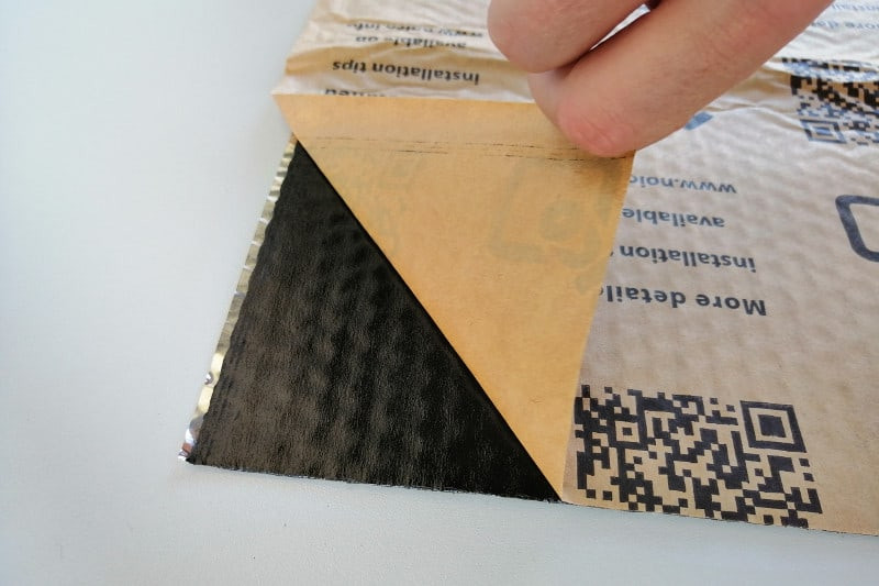 Noico sound deadening material - strong adhesive.