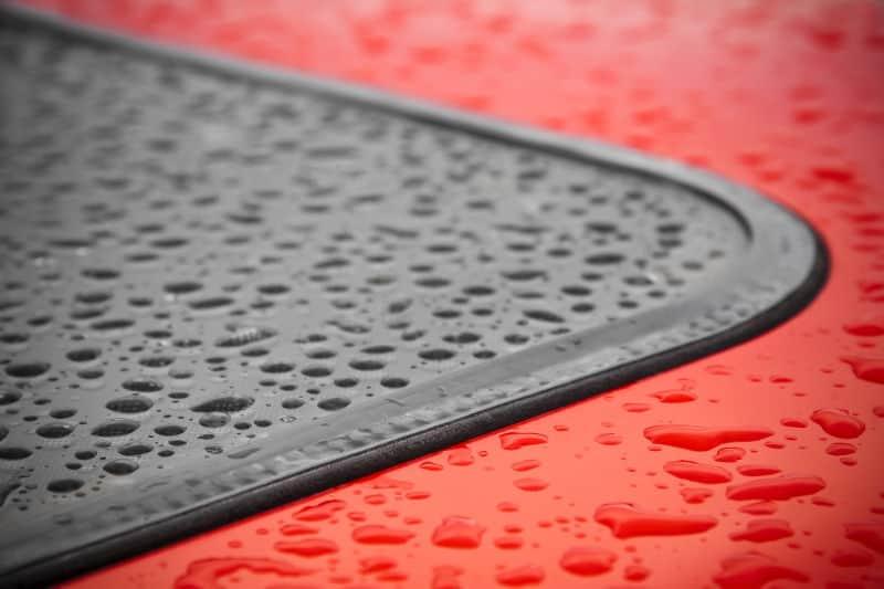 Car leaking water inside when it rains.
