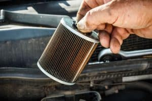 How to clean up a car fuel filter.