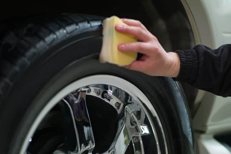 Homemade tire shine. Make your tires shine again.