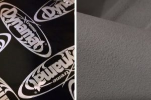 Lizardskin sound deadening spray and Dynamat sound deadening mat.