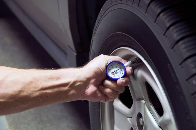 Check and inflate your cars tires.