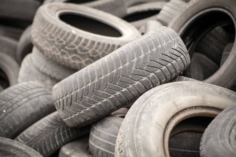 How to dispose of old car tires.