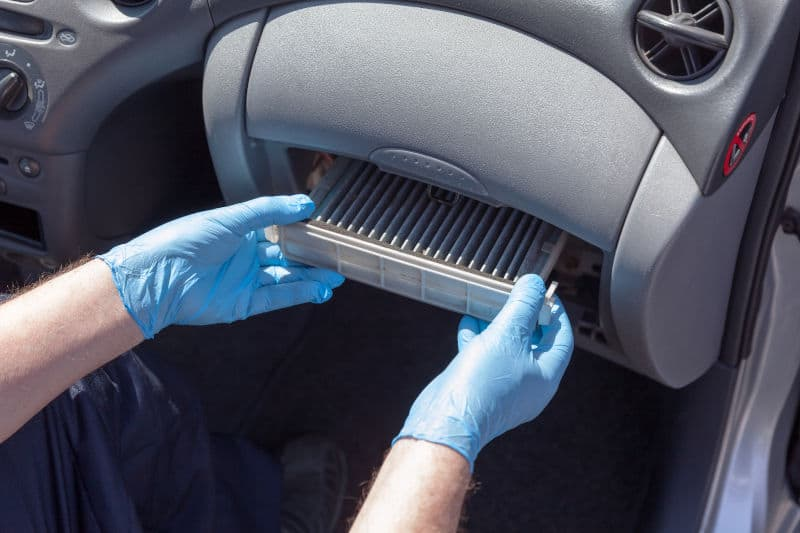 How to clean an AC filter in your car.