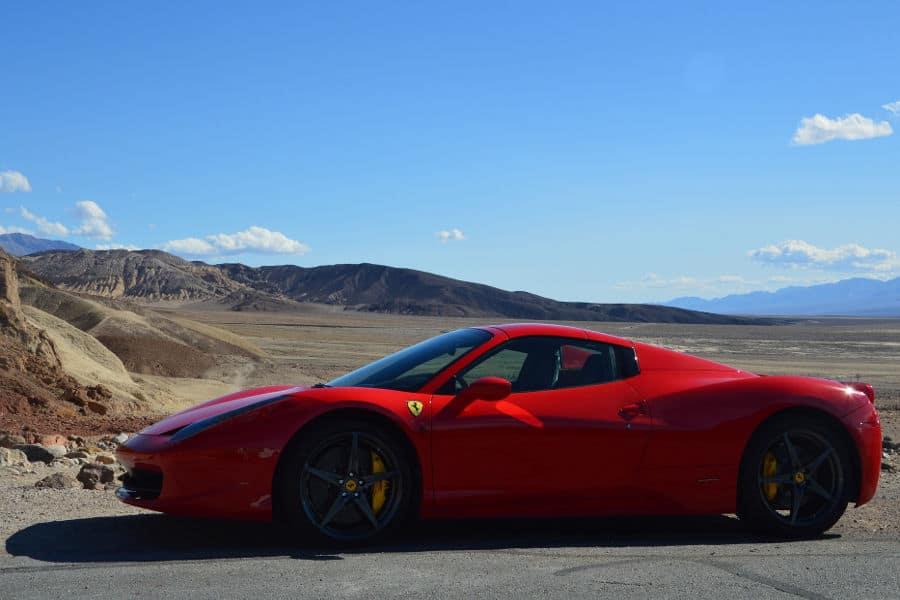 Car brand Ferrari.