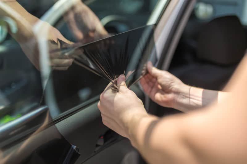 How to remove tint film from car windows.