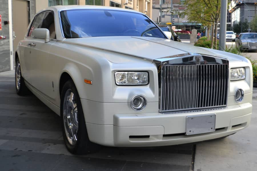 Car brand Rolls-Royce.