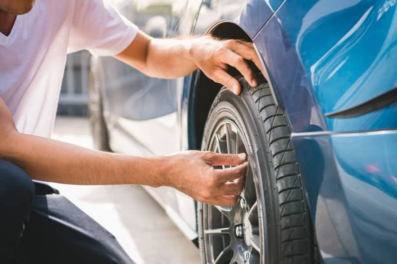 How to deflate a tire partially or fully.