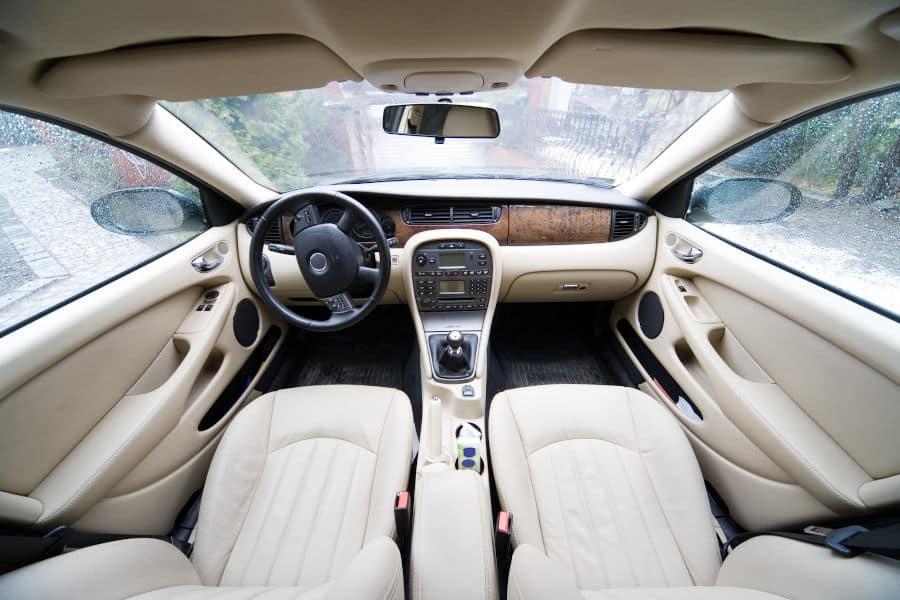 Bright car interior.