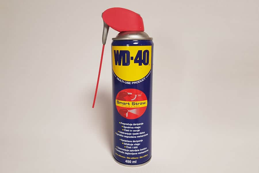 WD-40 used as tire shine.