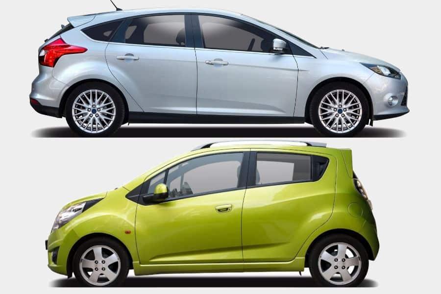 Economy vs compact rental car.
