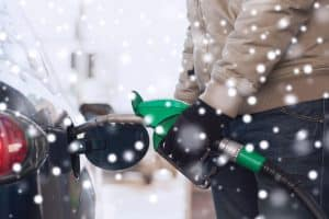 What is the freezing point of gasoline and how to store it during winters.