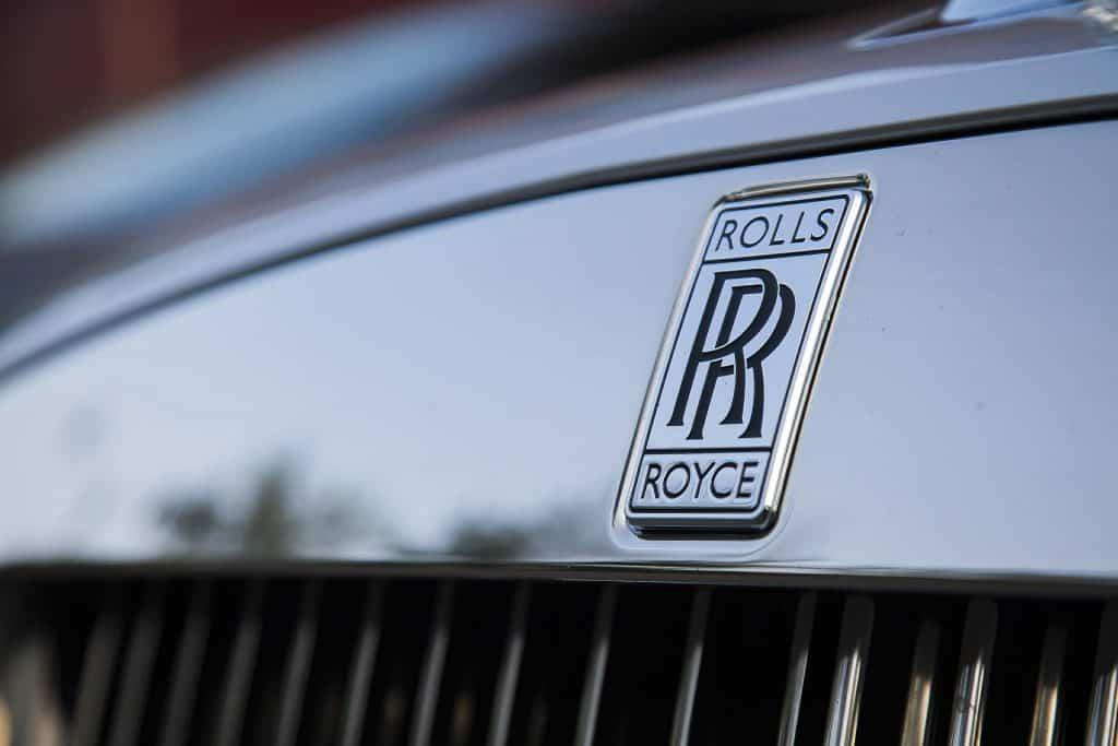 Car brand Rolls Royce.