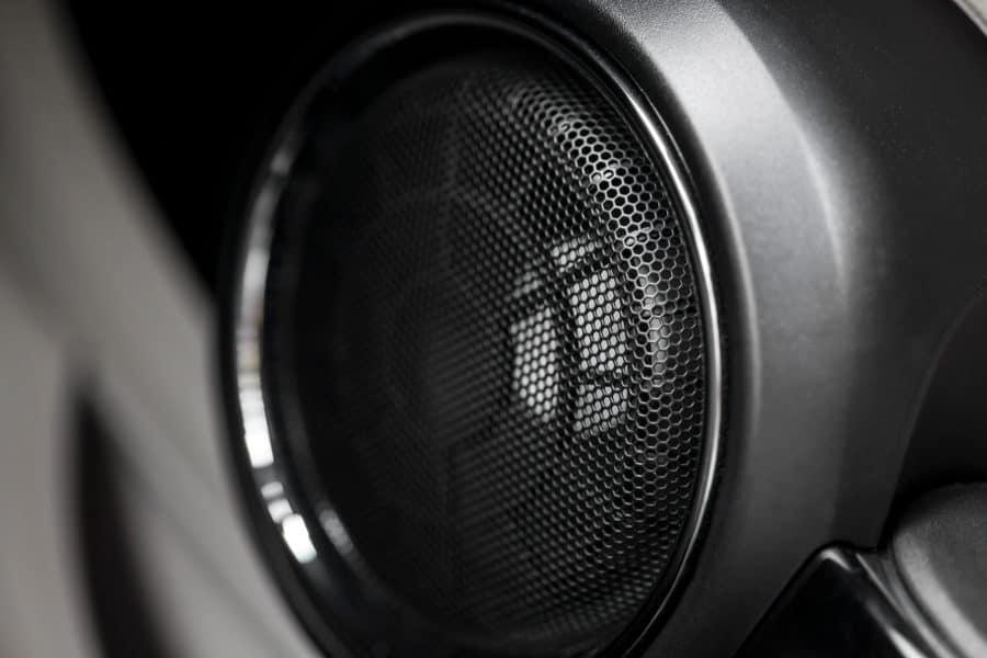 Car speaker making noise when car is off.